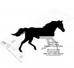 05-WC-1246 - Horse Trotting Yard Art Woodworking Pattern