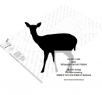 05-WC-1249 - Deer Yard Art Full Size Woodworking Pattern