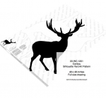 05-WC-1251 - Caribou Silhouette Yard Art Woodworking Pattern