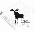 05-WC-1252 - Moose Silhouette Yard Art Woodworking Pattern
