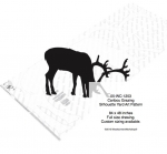 05-WC-1253 - Caribou Grazing Silhouette Yard Art Woodworking Pattern