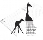 Giraffe and Baby Silhouette Yard Art Woodworking Pattern