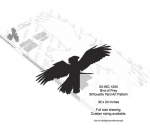 05-WC-1255 - Bird of Prey Silhouette Yard Art Woodworking Pattern