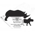 fee plans woodworking resource from WoodworkersWorkshop® Online Store - rhinoceros,wildlife,animals,African,savannah,yard art,painting wood crafts,scrollsawing patterns,drawings,plywood,plywoodworking plans,woodworkers projects,workshop blueprints