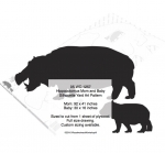Hippopotomus Mom and Baby Silhouette Yard Art Woodworking Pattern woodworking plan