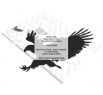 05-WC-1260 - Eagle about to strike Silhouette Yard Art Woodworking Pattern