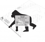 05-WC-1263 - Silverback Silhouette Yard Art Woodworking Pattern