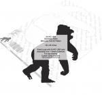 05-WC-1264 - Silverback Attack Silhouette Yard Art Woodworking Pattern