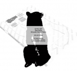 05-WC-1267 - Bear Sitting Silhouette Yard Art Woodworking Pattern