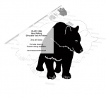05-WC-1269 - Bear Walking Silhouette Yard Art Woodworking Pattern