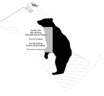 05-WC-1270 - Bear Standing Silhouette Yard Art Woodworking Pattern