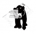 05-WC-1271 - Bear Walking Your Way Silhouette Yard Art Woodworking Pattern