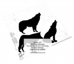 Wolf Pack Silhouettes Yard Art Woodworking Pattern, wolf,wolves,coyotes,animals,wildlife,yard art,painting wood crafts,scrollsawing patterns,drawings,plywood,plywoodworking plans,woodworkers projects,workshop blueprints