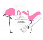 Flamingo Pair of Silhouettes Yard Art Woodworking Pattern