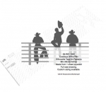 Cowboys at the Rail Silhouettes Yard Art Woodworking Pattern