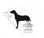 05-WC-1296 - Black Labrador Retriever Silhouette Yard Art Woodworking Pattern