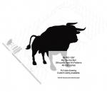Big Tex the Bull Silhouettes Yard Art Woodworking Pattern