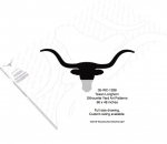 Texas Longhorn Silhouettes Yard Art Woodworking Pattern
