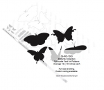 Butterfly Collection Silhouettes Woodworking Pattern