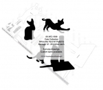 05-WC-1309 - Cat Collection Silhouettes Yard Art Woodworking Pattern
