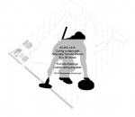 05-WC-1315 -  Curling in the hack Silhouette Yard Art Woodworking Pattern