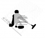 Curler releasing rock Silhouette Yard Art Woodworking Pattern