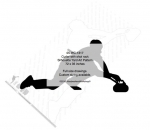 Curler with shot rock Silhouette Yard Art Woodworking Pattern