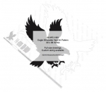 Eagle Silhouette Yard Art Woodworking Pattern, eagles,silhouettes,birds o fprey,animals,wildlife,yard art,painting wood crafts,scrollsawing patterns,drawings,plywood,plywoodworking plans,woodworkers projects,workshop blueprints