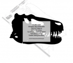 Dinosaur Skull Silhouette Woodworking Pattern