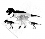 fee plans woodworking resource from WoodworkersWorkshop® Online Store - dinosaurs,tyrannosaurus rex,T-rex,silhouettes,yard art,painting wood crafts,scrollsawing patterns,drawings,plywood,plywoodworking plans,woodworkers projects,workshop blueprints