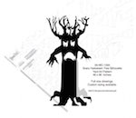 Scary Halloween Tree Silhouette Yard Art Woodworking Pattern, scary,Halloween,spooky trees,yard art,painting wood crafts,scrollsawing patterns,drawings,plywood,plywoodworking plans,woodworkers projects,workshop blueprints