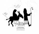 Joseph leading Mary and Baby Jesus on a donkey Woodworking Pattern
