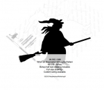 Witch on Broomstick Silhouette Woodworking Pattern