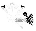 05-WC-1341 - Ghosts Silhouette Yard Art Woodworking Pattern