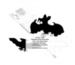 05-WC-1342 - Bat Silhouette Yard Art Woodworking Pattern