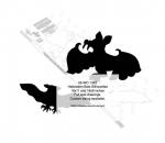 Bat Silhouette Yard Art Woodworking Pattern