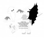 05-WC-1344 - Halloween Ghouls Silhouette Yard Art Woodworking Pattern