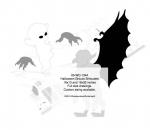 Halloween Ghouls Silhouette Yard Art Woodworking Pattern