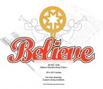 Believe with Star and Angels Yard Art Woodworking Pattern