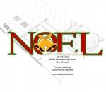 NOEL Yard Art Woodworking Pattern