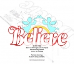 05-WC-1352 - Believe with Angels and Trumpets Yard Art Woodcrafting Pattern