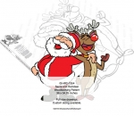 Santa Claus and Rudolph Yard Art Woodworking Pattern woodworking plan