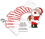 05-WC-1356 - HoHoHo Santa Claus Yard Art Woodworking Pattern