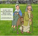 05-WC-1357 - Road to Bethlehem Yard Art Woodworking Pattern