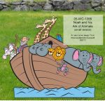 Noah and his Ark of Animals Yard Art Woodworking Pattern woodworking plan