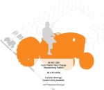 05-WC-1362 - Farm Tractor Team Orange Yard Art Woodworking Pattern