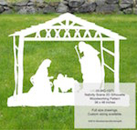fee plans woodworking resource from WoodworkersWorkshop® Online Store - Christmas nativity scenes,stable,manger,baby Jesus,Mary,Joseph,yard art,painting wood crafts,scrollsawing patterns,drawings,patterns for plywood outdoor nativity scenes,plywoodworking plans,woodworker