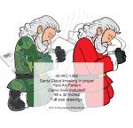 05-WC-1392 - Santa Camo-Claus kneeling in prayer Yard Art Woodworking Pattern