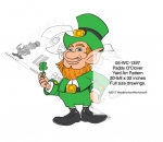 05-WC-1397 - Paddy O Clover the Leprechaun Yard Art Woodworking Pattern