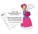 Christmas Caroler Mother Yard Art Woodworking Pattern